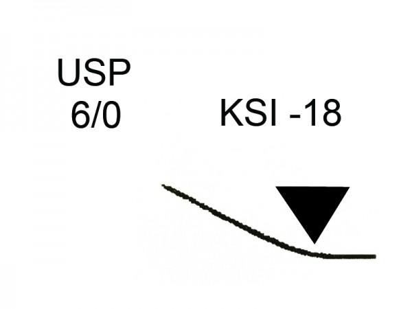 Keydent PTFE USP 6/0 1x0,50m Nadel: KSI-18 (18)